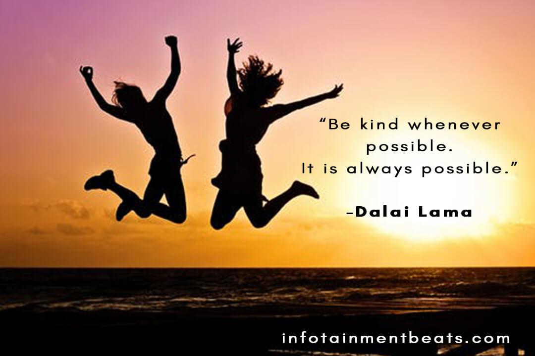 Dalai Lama saying motivation