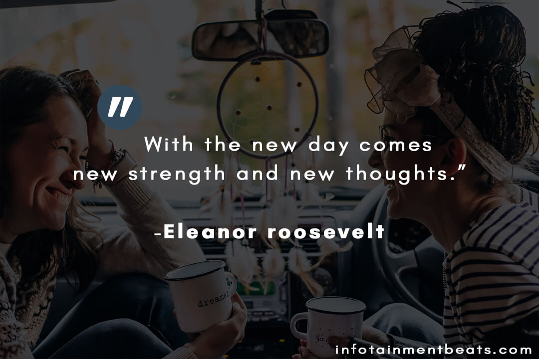 eleanor roosevelt with the new day