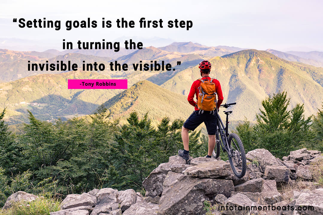 Tony Robbins quote setting goal