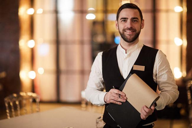 professional waiter service
