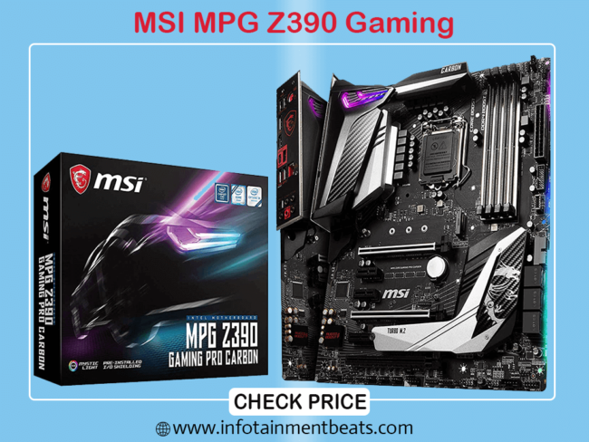 MSI MPG Z390 Gaming Pro Carbon LGA 1151 Gaming Motherboard for i9 9900k
