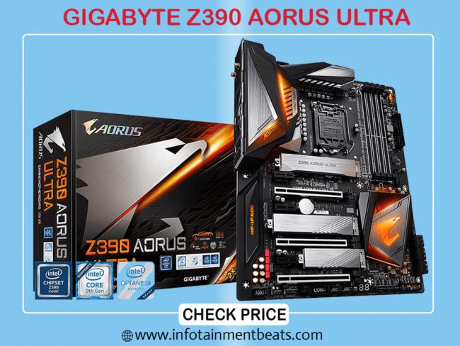 GIGABYTE Z390 AORUS ULTRA RGB Fusion Gaming Motherboard for i9 9900k