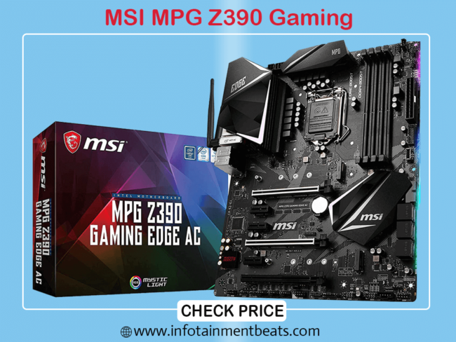 MSI MPG Z390 Gaming Edge AC LGA 1151 Gaming Motherboard for i9 9900k