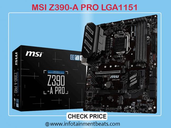MSI Z390-A PRO LGA 1151 Dual Gigabit LAN ATX Motherboard for i9 9900k