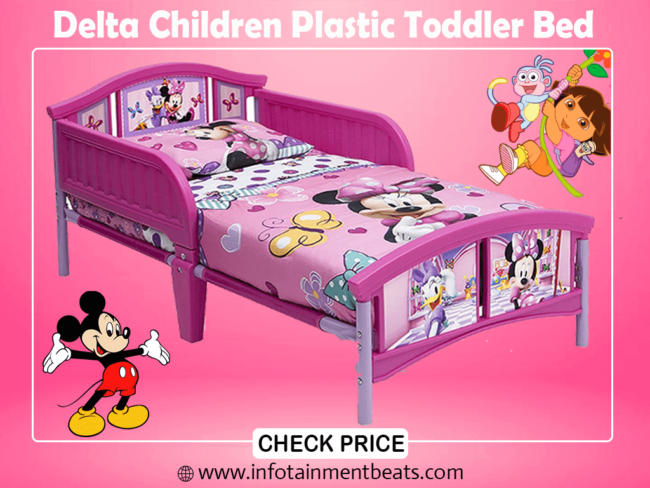 1- Delta Children Plastic Toddler Bed