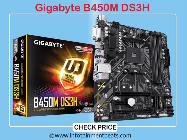 1 Gigabyte B450M DS3H