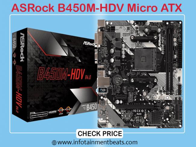 7 ASRock B450M-HDV Micro ATX