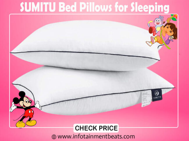 7- SUMITU Bed Pillows for Sleeping_