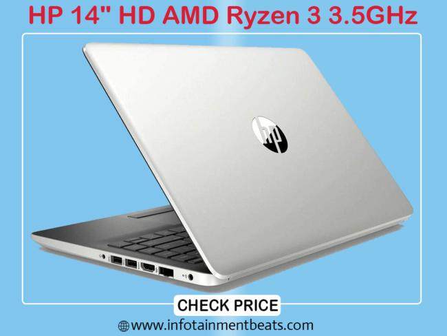 9- HP 14 HD AMD Ryzen 3 3.5GHz Gaming Laptop