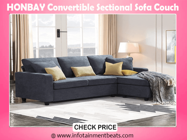 10- HONBAY Convertible Sectional best Sofa Couch