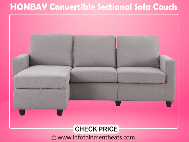 2- HONBAY Convertible Sectional Sofa Couch