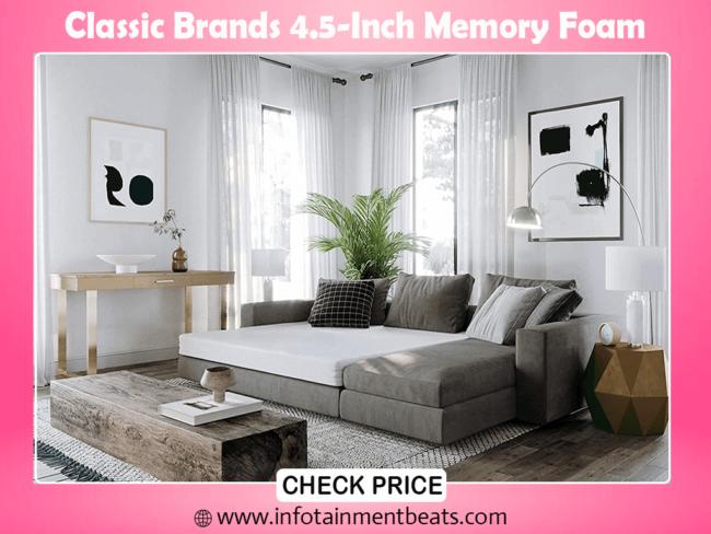 3- Classic Brands 4.5-Inch Memory Foam