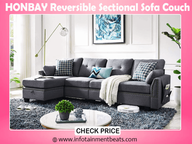 6- HONBAY Reversible Sectional best Sofa Couch