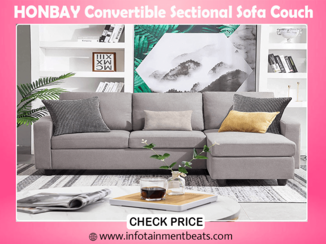 9- HONBAY Convertible Sectional best Sofa Couch