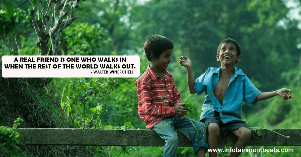 Friendship quote by Walter WinerChell