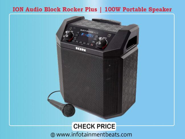 ION Audio Block Rocker Plus 100W Portable Speaker