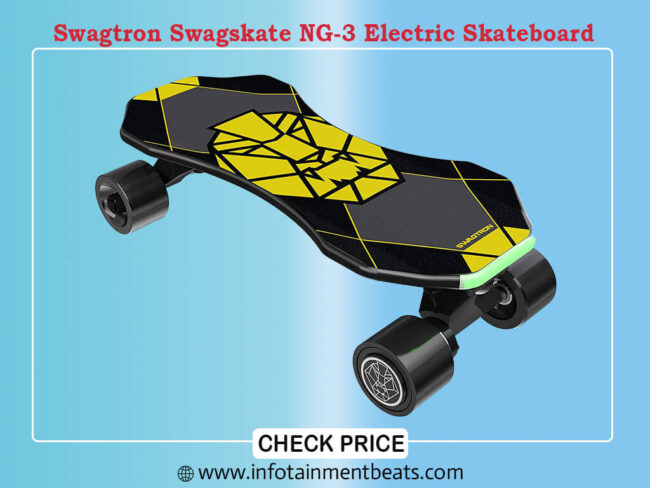 Swagtron Swagskate NG-3 Electric Skateboard for Kids,