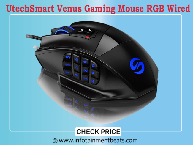 UtechSmart Venus Gaming Mouse RGB Wired