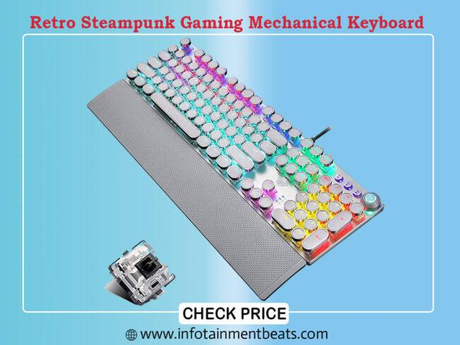Retro Steampunk Gaming Mechanical Keyboard