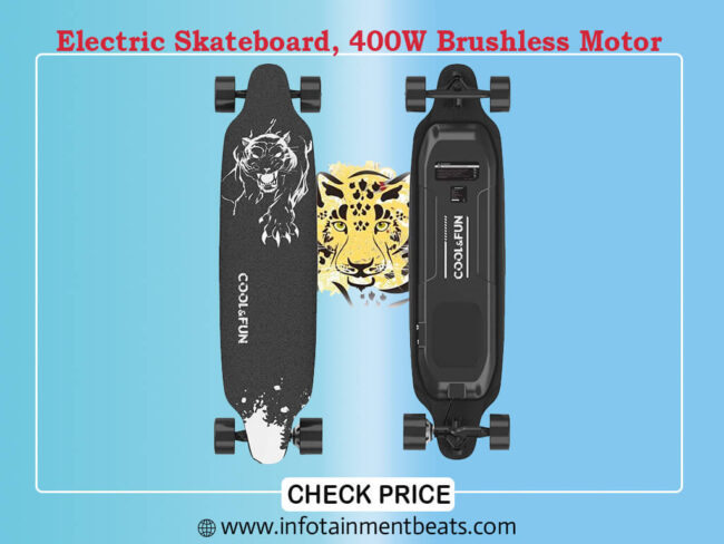 Electric Skateboard, 400W Brushless Motor Electric Skateboard