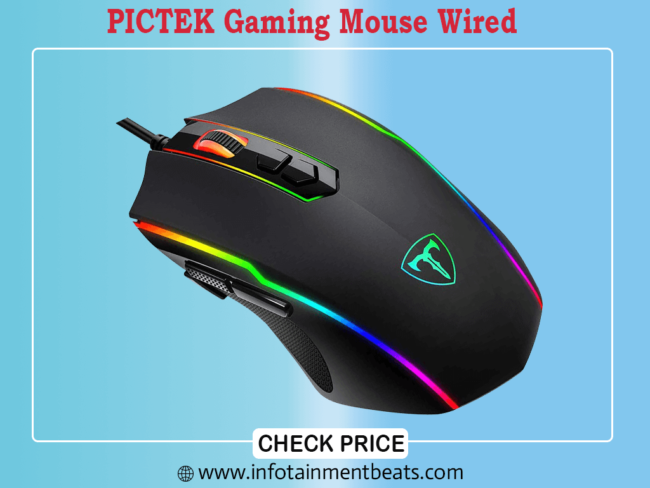 PICTEK Gaming Mouse Wired