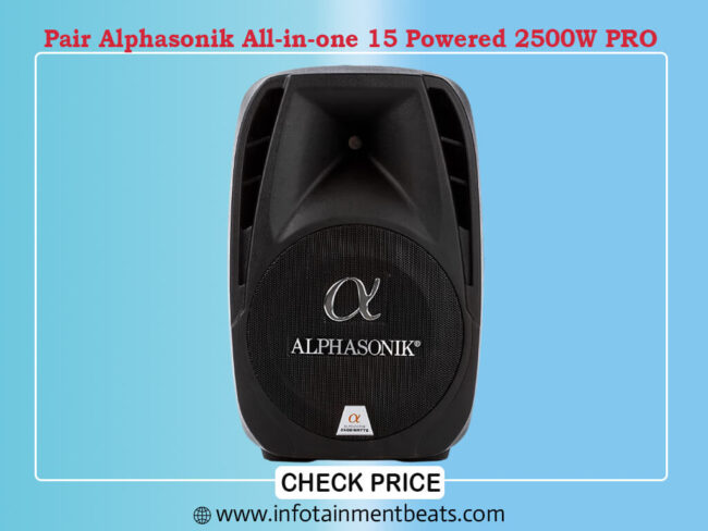 Pair Alphasonik All-in-one 15 Powered 2500W PRO