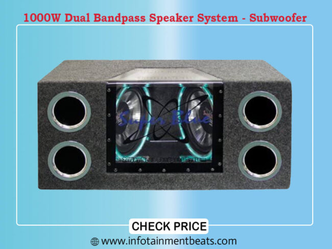 1000W Dual Bandpass Speaker System - Subwoofer