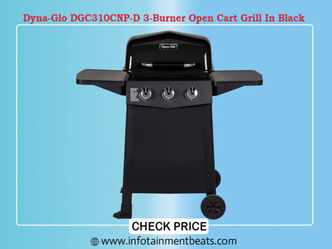 Dyna-Glo DGC310CNP-D 3-Burner Open Cart Grill In Black