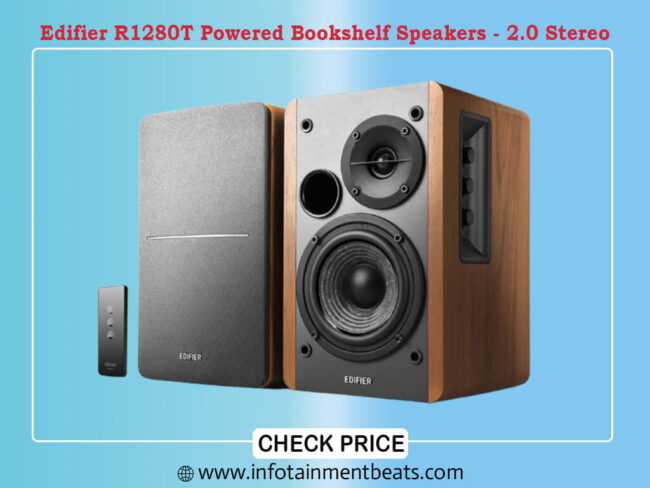 Edifier R1280T Powered Bookshelf Speakers - 2.0 Stereo