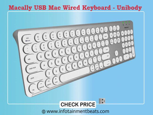 Macally USB Mac Wired Keyboard - Unibody