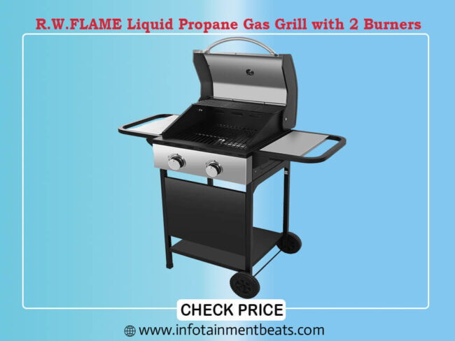 R.W.FLAME Liquid Propane Gas Grill with 2 Burners