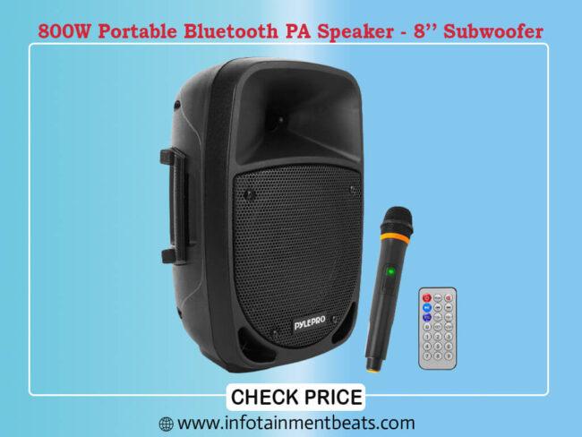 800W Portable Bluetooth PA Speaker - 8GÇÖGÇÖ Subwoofer,
