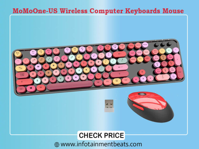 MoMoOne-US Wireless Computer Keyboards Mouse