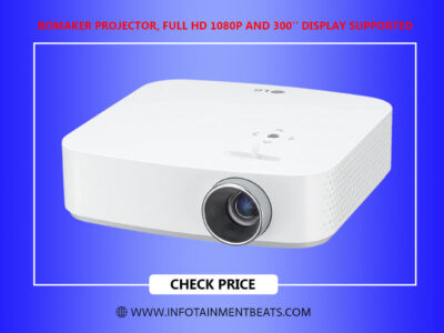 Bomaker Projector Full HD 1080P and 300 Display Supported