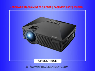 DBPOWER RD 820 Mini Projector Carrying Case 5500Lux