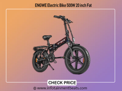 ENGWE Electric Bike 500W 20 inch Fat Tire Electric Bike Mountain Beach Snow Bike for Adults,