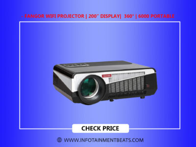 FANGOR WiFi Projector 200 Display 360 6000 Portable