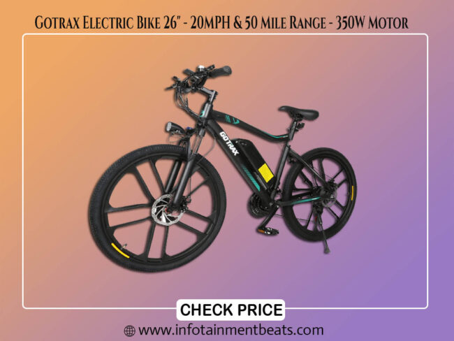 Gotrax Electric Bike 26 20MPH