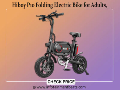 Hiboy P10 Folding Electric Bike for Adults, Power Assist, 36V Lithium Ion Battery, Ebike