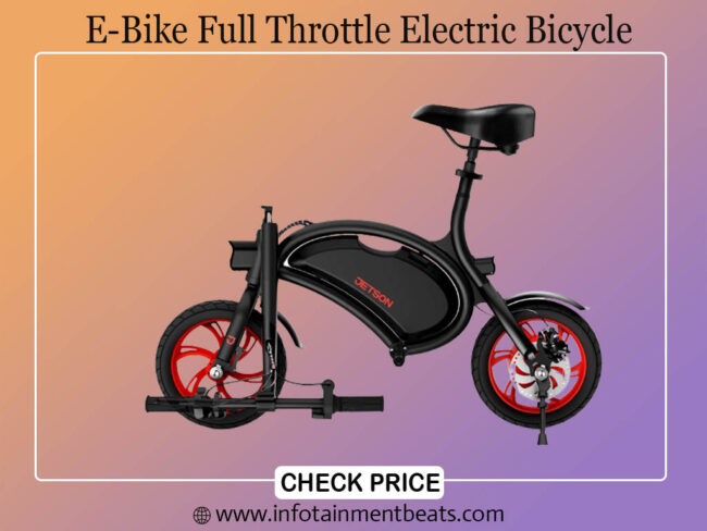 Jetson Bolt Folding E Bike Full Throttle Electric Bicycle with LCD Display