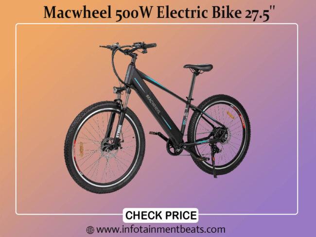 Macwheel 500W Electric Bike 27.5 Adults Electric Mountain Bike, with Removable