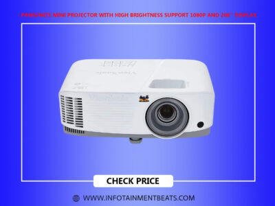Pansonite Mini Projector with High Brightness Support 1080P and 200 Display