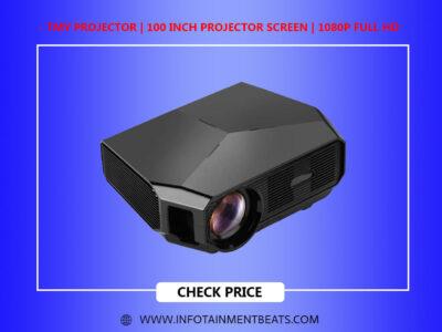 TMY Projector 100 Inch Projector Screen 1080P Full HD