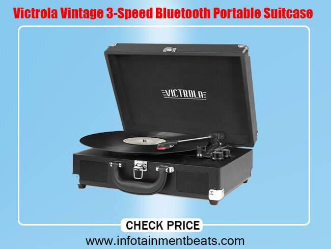 Victrola Vintage 3-Speed Bluetooth Portable Suitcase
