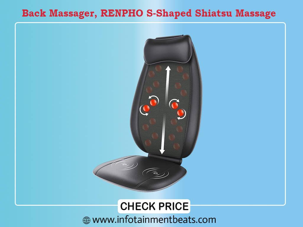 Back Massager, RENPHO S-Shaped Shiatsu Massage