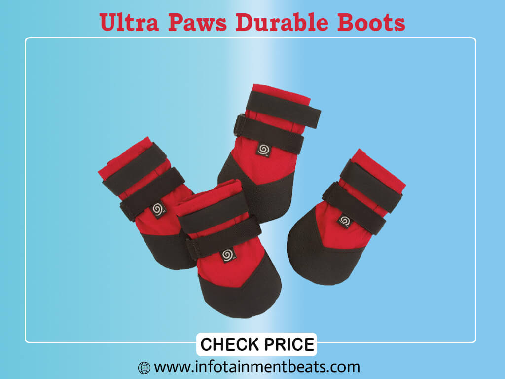 Ultra Paws Durable Boots - RED - Petite