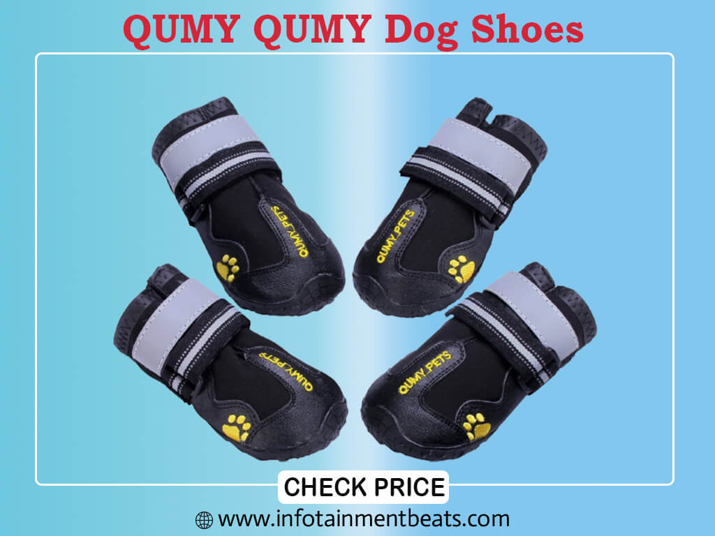 QUMY QUMY Dog Boots Waterproof Shoes