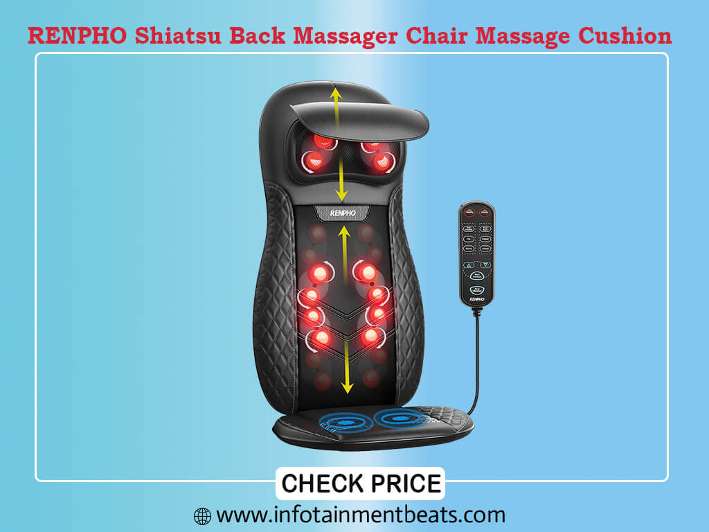 RENPHO Shiatsu Back Massager Chair With Heat Therapy