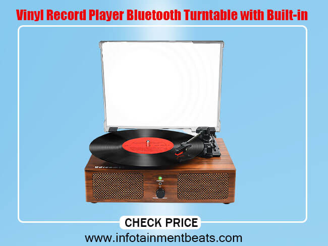 Vinyl Record Player Bluetooth Turntable with Built-in