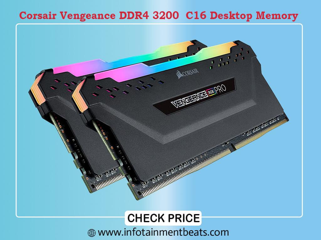 Corsair Vengeance RGB Pro 32GB (2x16GB) DDR4 3200 (PC4-25600) C16 Desktop Memory